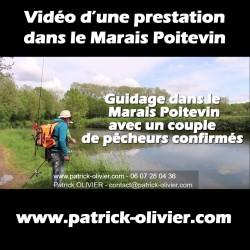 Vidéo prestation dans le Marais Poitevin avec un couple de pêcheurs confirmés