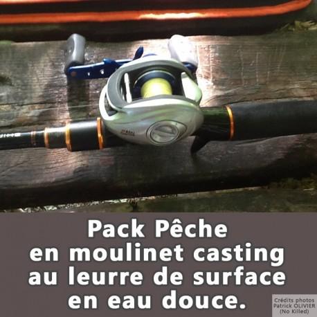 pack pêche au moulinet casting au leurre de surface