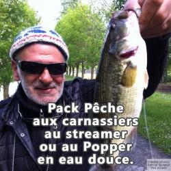 Pack pêche aux carnassiers au streamer ou au popper en eau douce