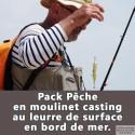 Pack pêche au moulinet casting au leurre de surface en bord de mer