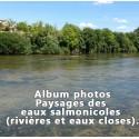 Album photos paysages des eaux salmonicoles en rivières et eaux closes